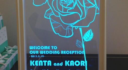 結婚式オリジナルウェルカムボード事例