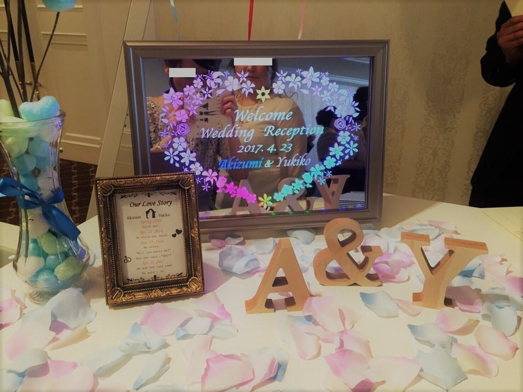 ウェルカムボード,結婚式,披露宴,LED,光る,ウエルカムボード,光,ウェディング,ウエディング